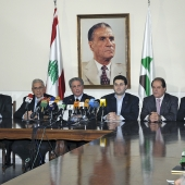 Photo 47 of 152 - Press Conference for Former Pr. Sheikh Amine Gemayel & The C