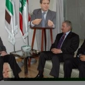Photo 2 of 56 - Former President meets Abbas Zeki and Gebril Rajjoub 19032007