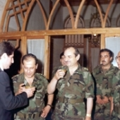 Photo 61 of 88 - with Army chief commander Gale Michel Aoun 01081984
