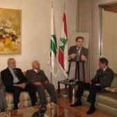 Photo 39 of 56 - Former President meets Mohammad Baalbaki and Samih Solh 04042007