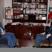 Photo 42 of 56 - Former President meets Egyptian Ambassador Hussein Darar 21022007