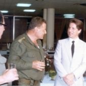 Photo 71 of 88 - With army chief commander Gale Ibrahim Tannous 06051983