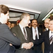 Photo 42 of 88 -  President Assad and PM Chafic Wazzan New Delhi 07031983